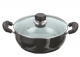 Hard Anodised Deep Karahi (Kadai) with Glass Lid